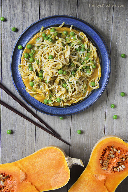 Butternut Squash & Ginger Sauce with Rice Noodles by Kind Earth -