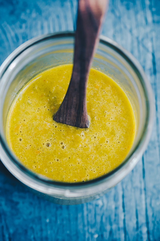 This easy to make Habanero Hot Sauce recipe is fermented for extra probiotic power and gut healing goodness!This spicy and healthy delight is packed full of habanero peppers, jalapeño peppers, garlic and its secret ingredient of carrots for that extra touch of natural sweetness and vibrancy. It is addictively delicious, complements a wide variety of dishes, and has the perfect spicy kick! #fermentedhotsauce #habanerohotsauce #garlichotsauce