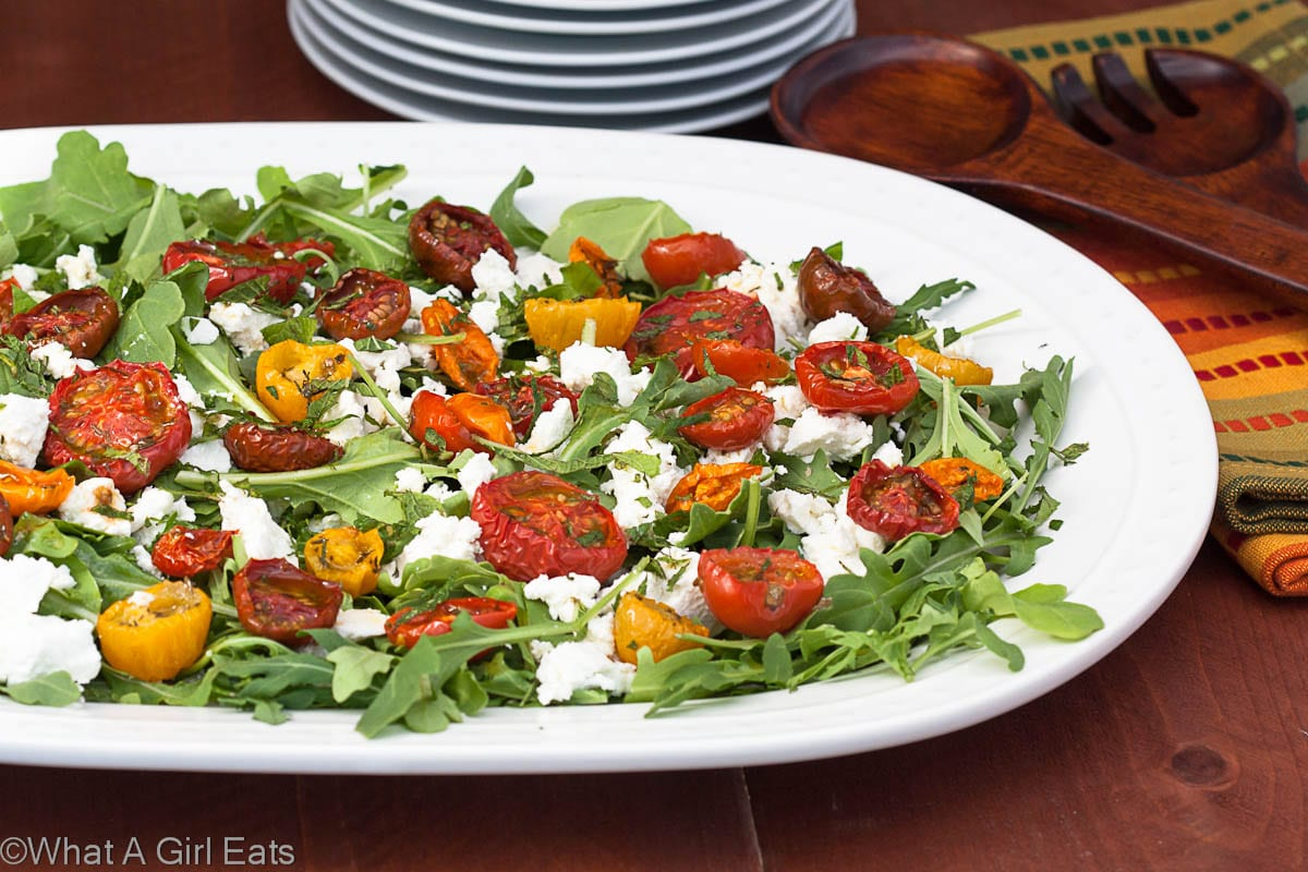Moonblush Tomato Salad by What a Girl Eats -