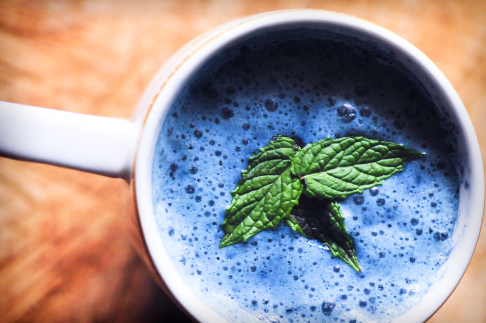Double Blue Peppermint Moon Milk (Vegan) by MOON and spoon and yum -