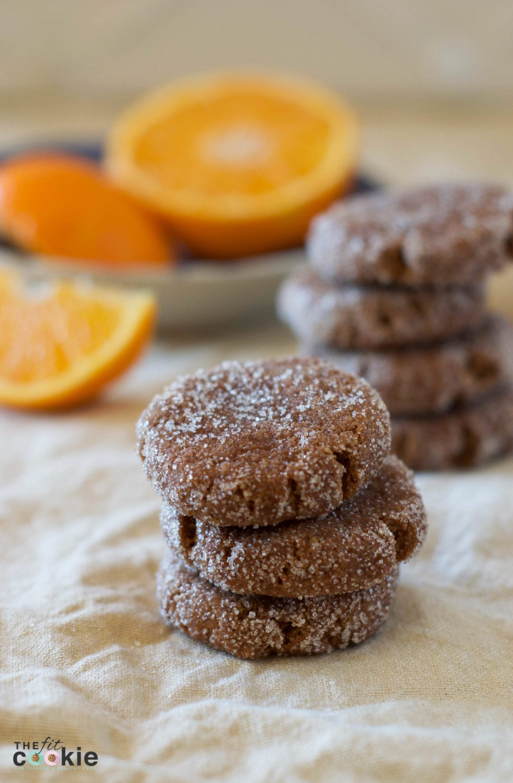 GRAIN FREE CHOCOLATE ORANGE COOKIES by The Fit Cookie - These flavorful cookies are packed with ingredients on the healthier side, and accommodate both vegan and sugar-free diets!