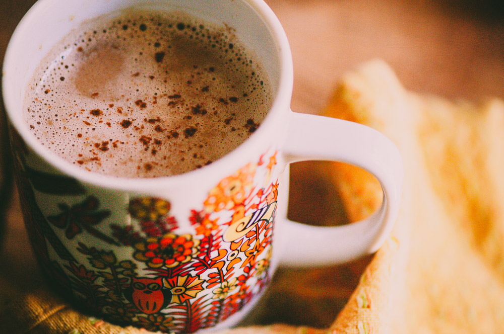 A warm, healthy, tasty, comforting and nourishing take on hot chocolate. Vegan, gluten-free and full of heart-healthy cacao, delicious cardamom, and protein-rich tahini. The perfect winter beverage! #hotchocolate #hotcocoa #cacao #tahini #healthy #warmbeverage #christmasdrink #cardamom #vegan
