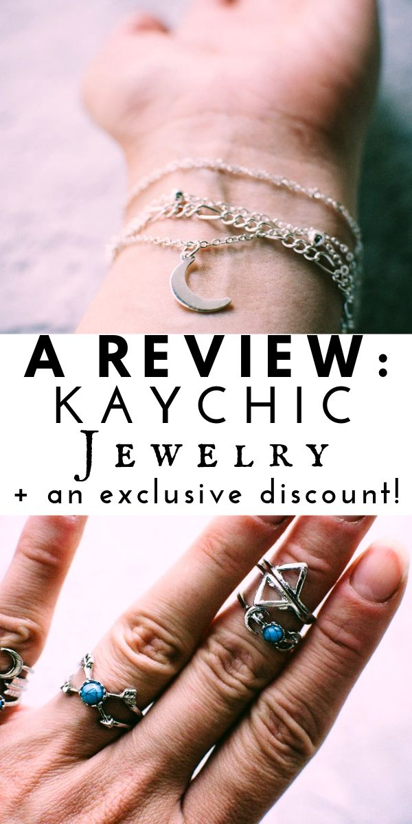 REVIEW + A DISCOUNT: KayChic Jewelry! Product review of Retro Six-Piece Ring Set & Bohemian Moon Anklet / Bracelet from Kay Chic Jewelry. #productreview #kaychic #kaychicjewelry #couponcode #geometricjewelry