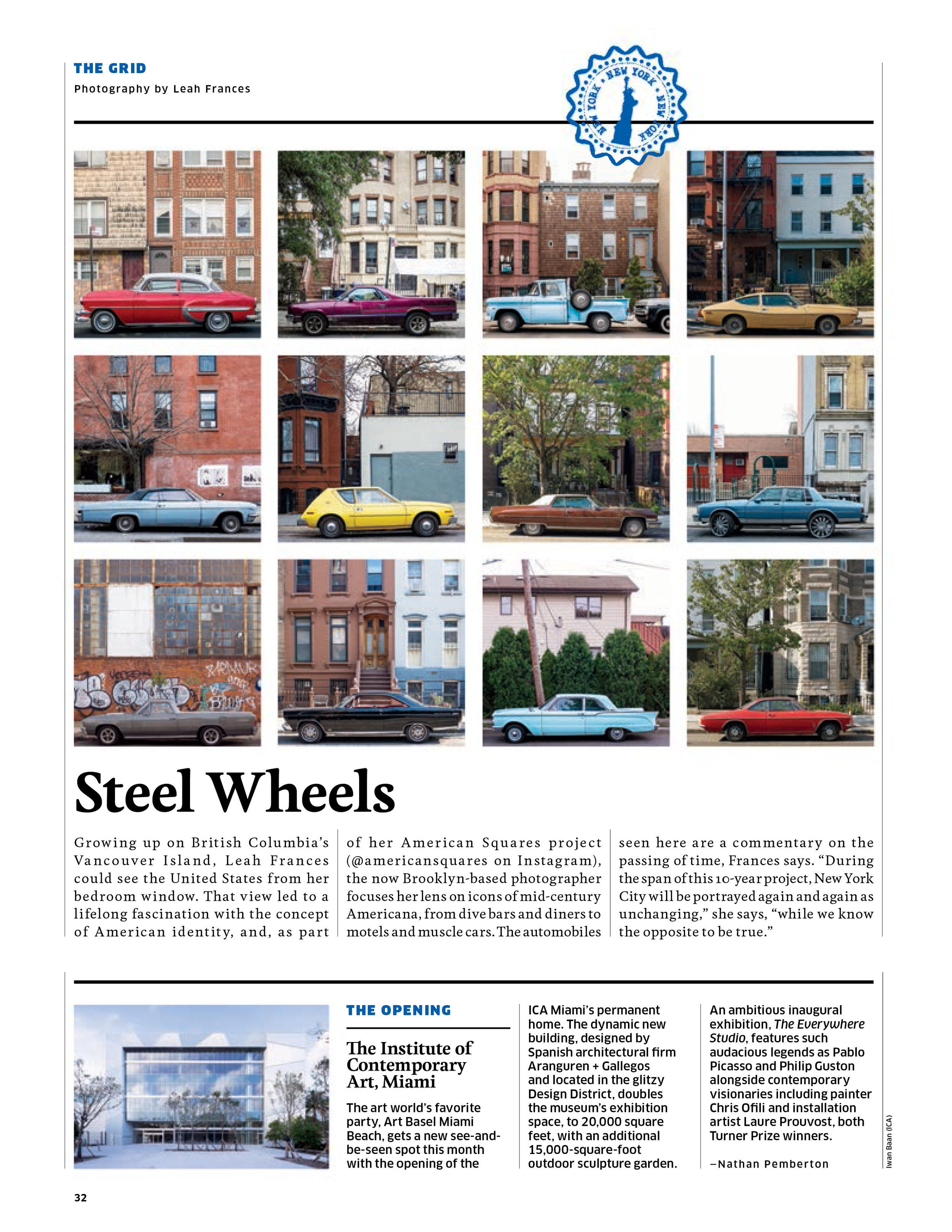 "Hemispheres Magazine, ""Parked Cars New York City"""