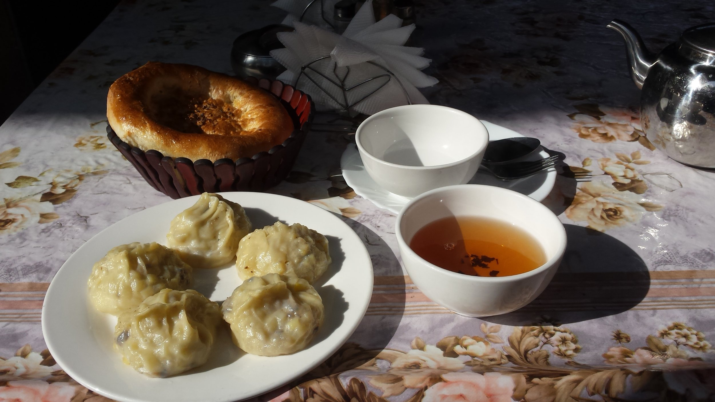 Manty - Kyrgyz dumplings.