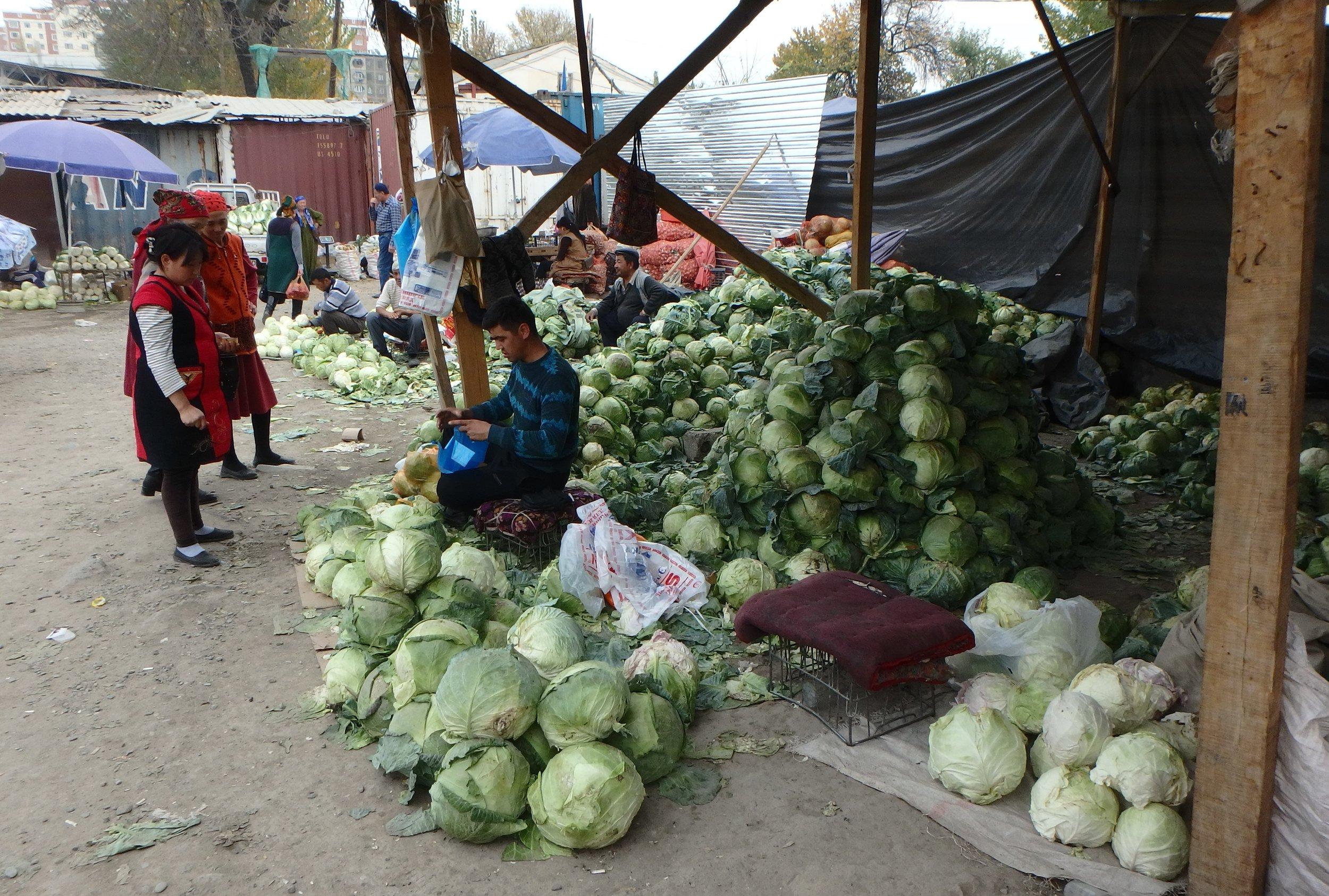 One for the vegetarians, Osh bazaar.