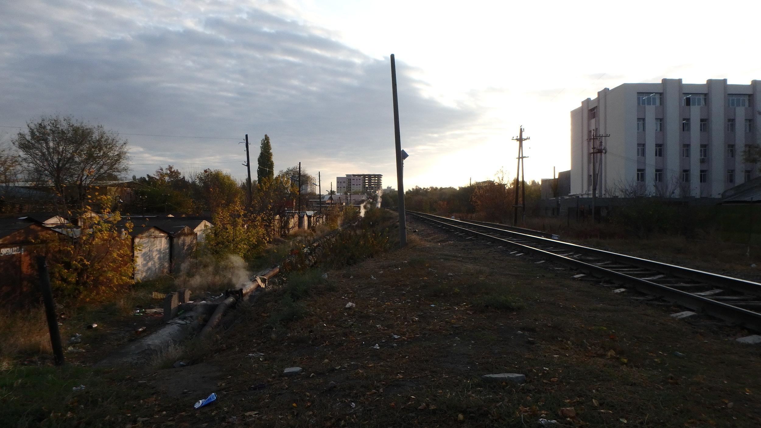 following some steamy lines, Bishkek.