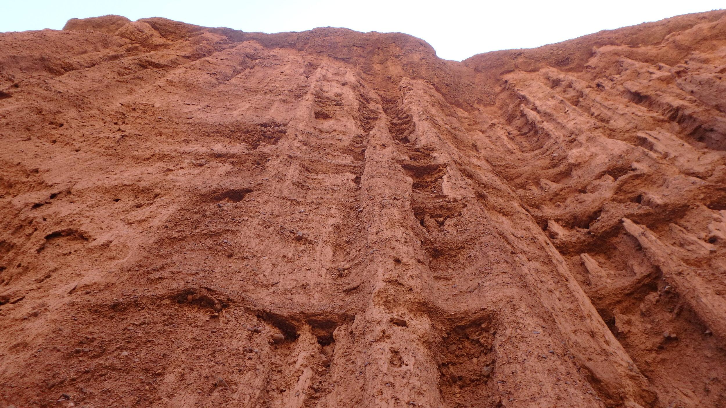 Wall of erosion, Kok Moynuk.