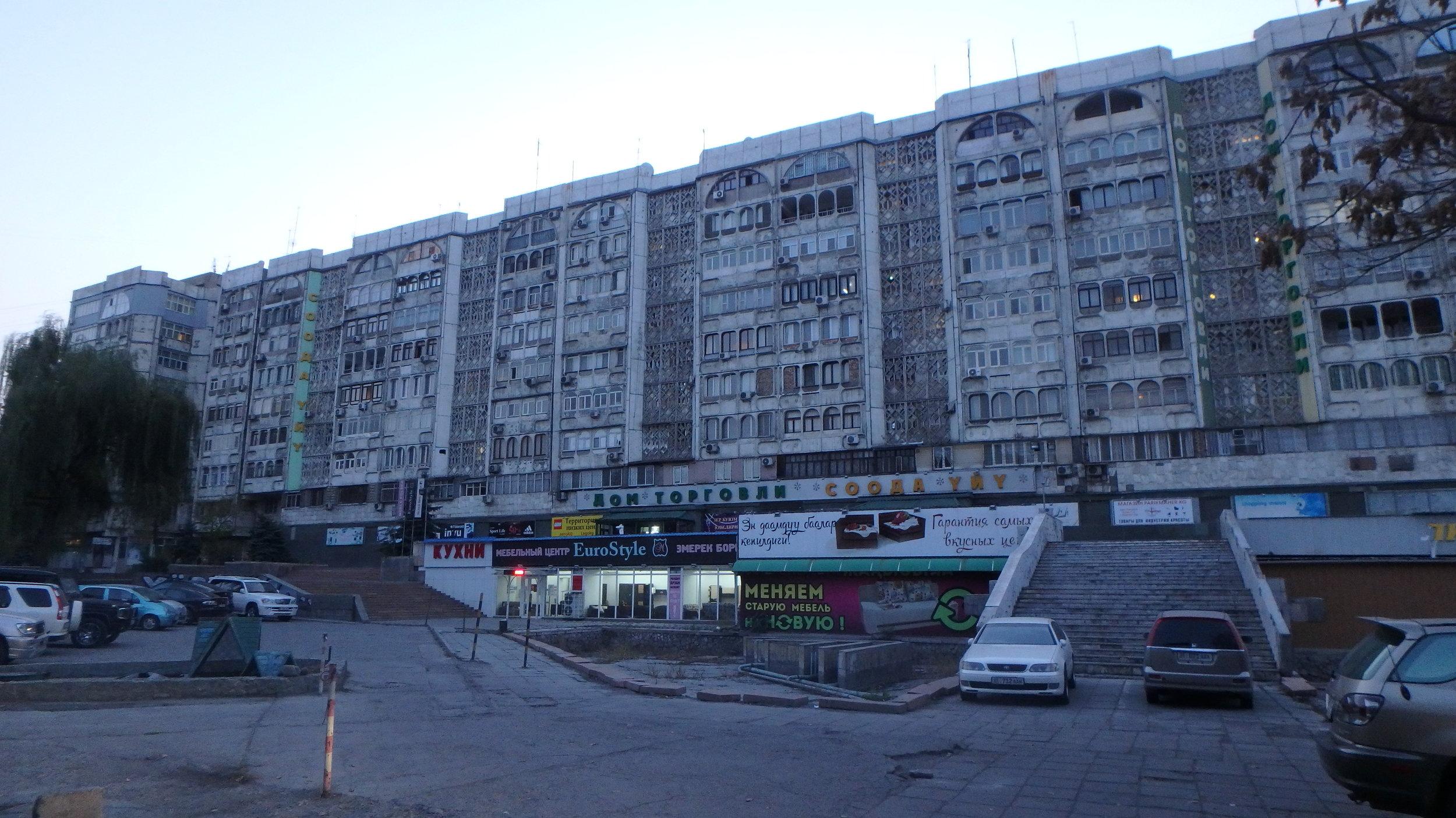 Apartment blocks from the good ol' days, Bishkek.