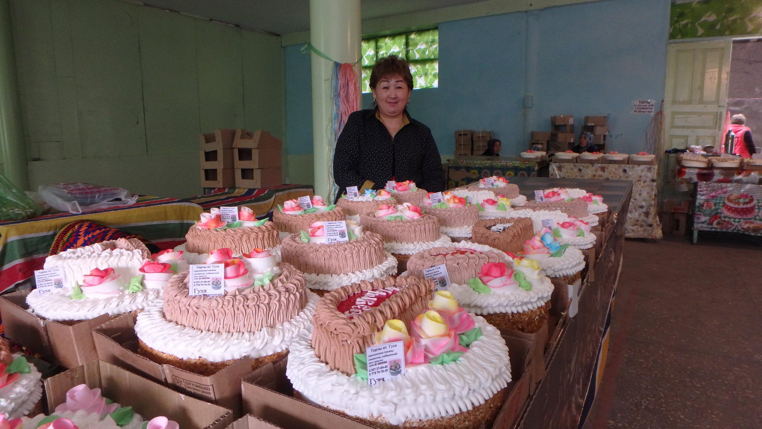 Cake section, Osh bazaar (in Osh, not Bishkek).