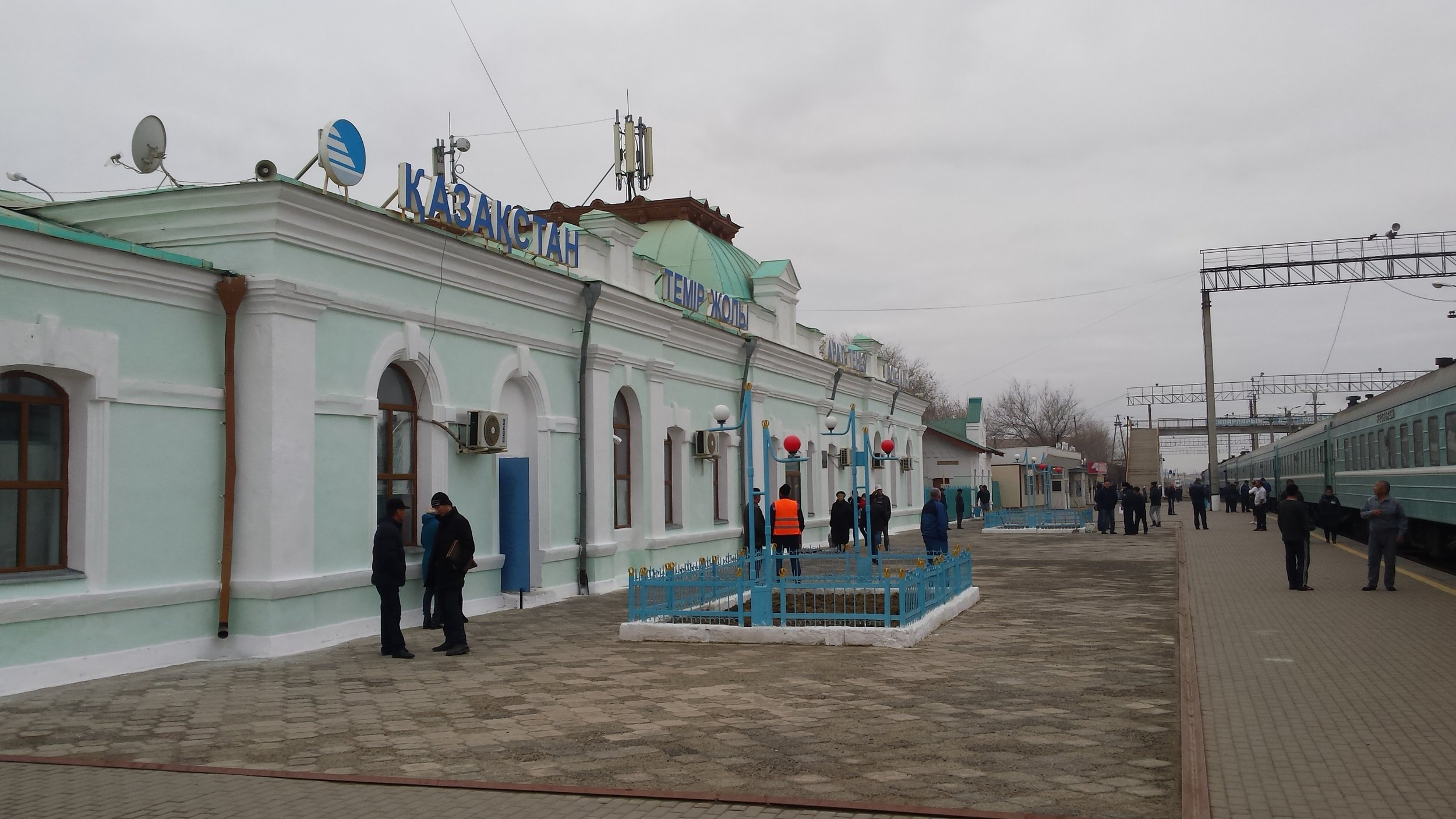 A train station pit stop en route to the steppe…