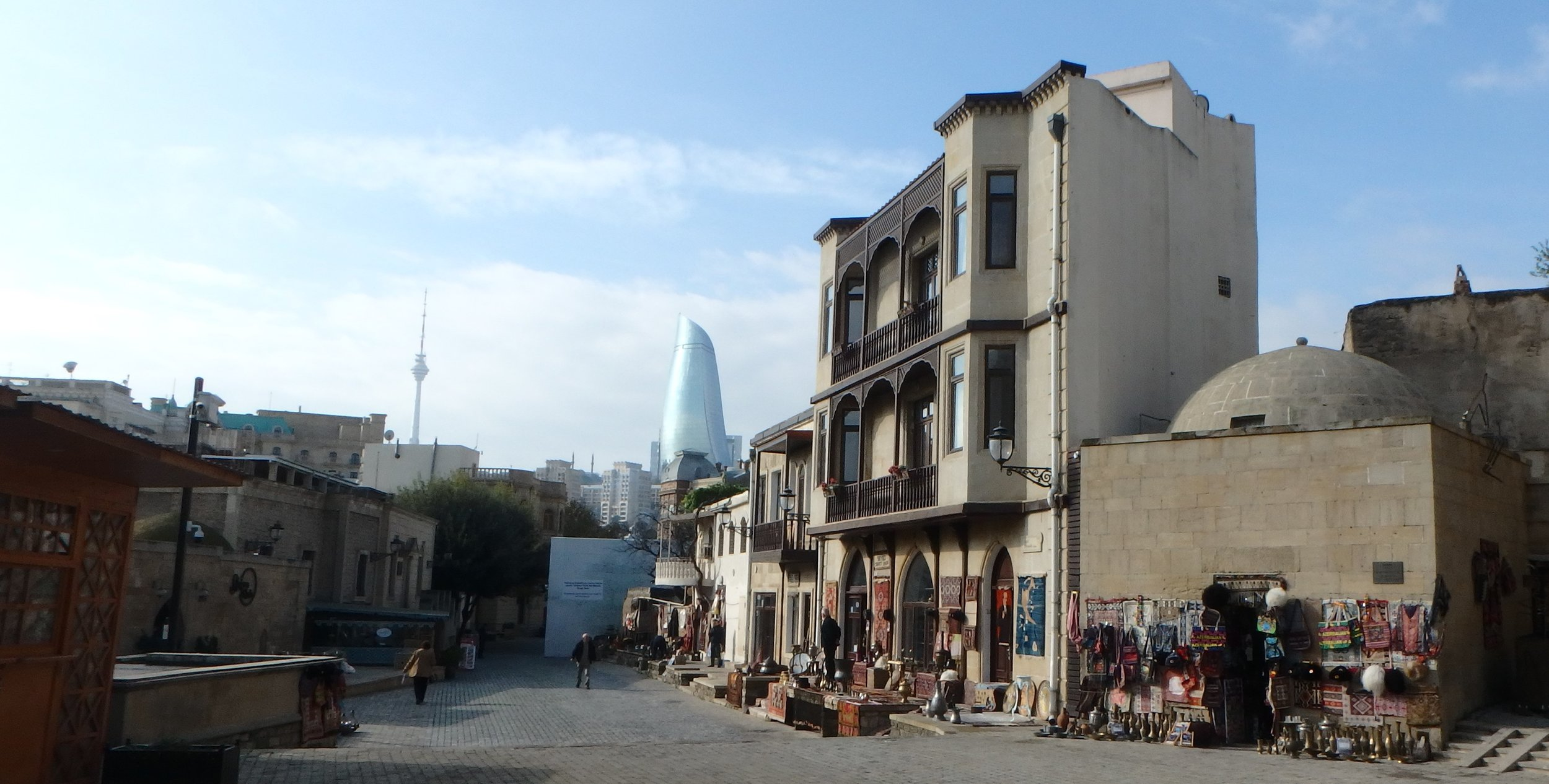 We'd made it to Baku, Azerbaijan - the city with an identity crisis - and the city where I'd had an identity crisis of my own and turned back from crossing the Caspian 6 years before. This time, I'd done it, and couldn't have been happier.