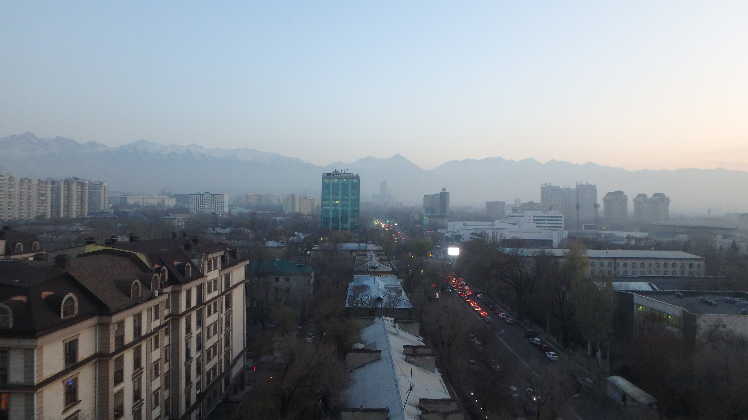 Skyline of Almaty, the old capital of Kazakhstan.