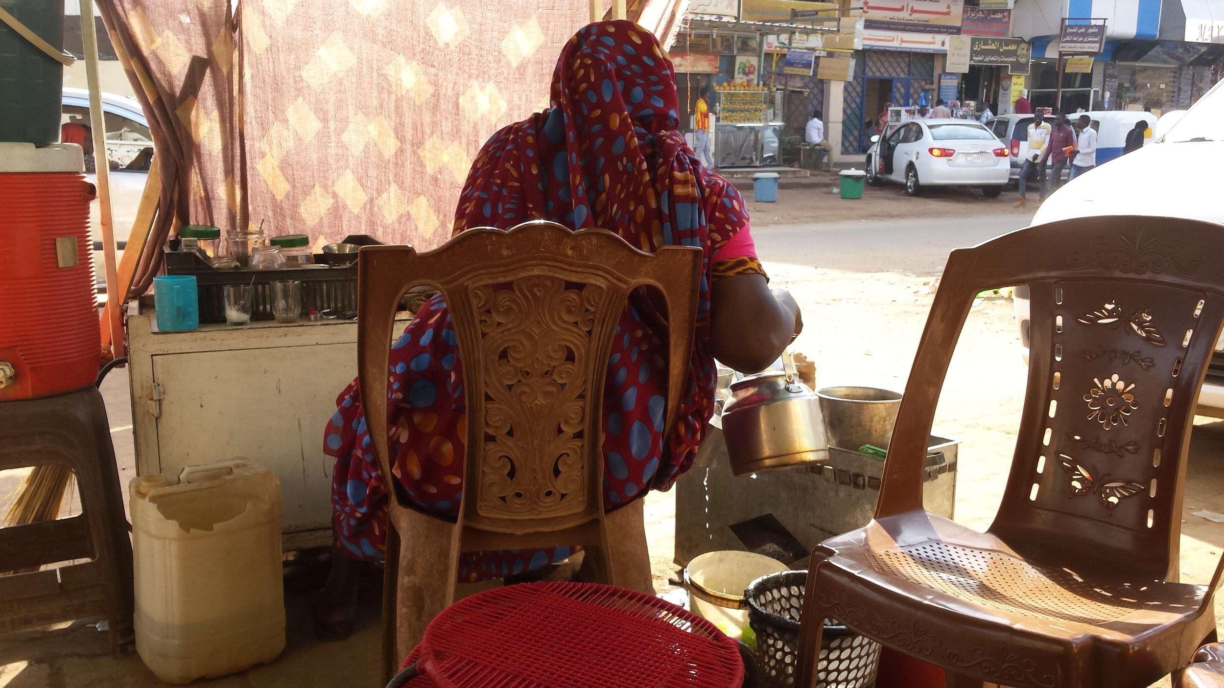 Coffee ladies! The lifeblood of all Sudan.