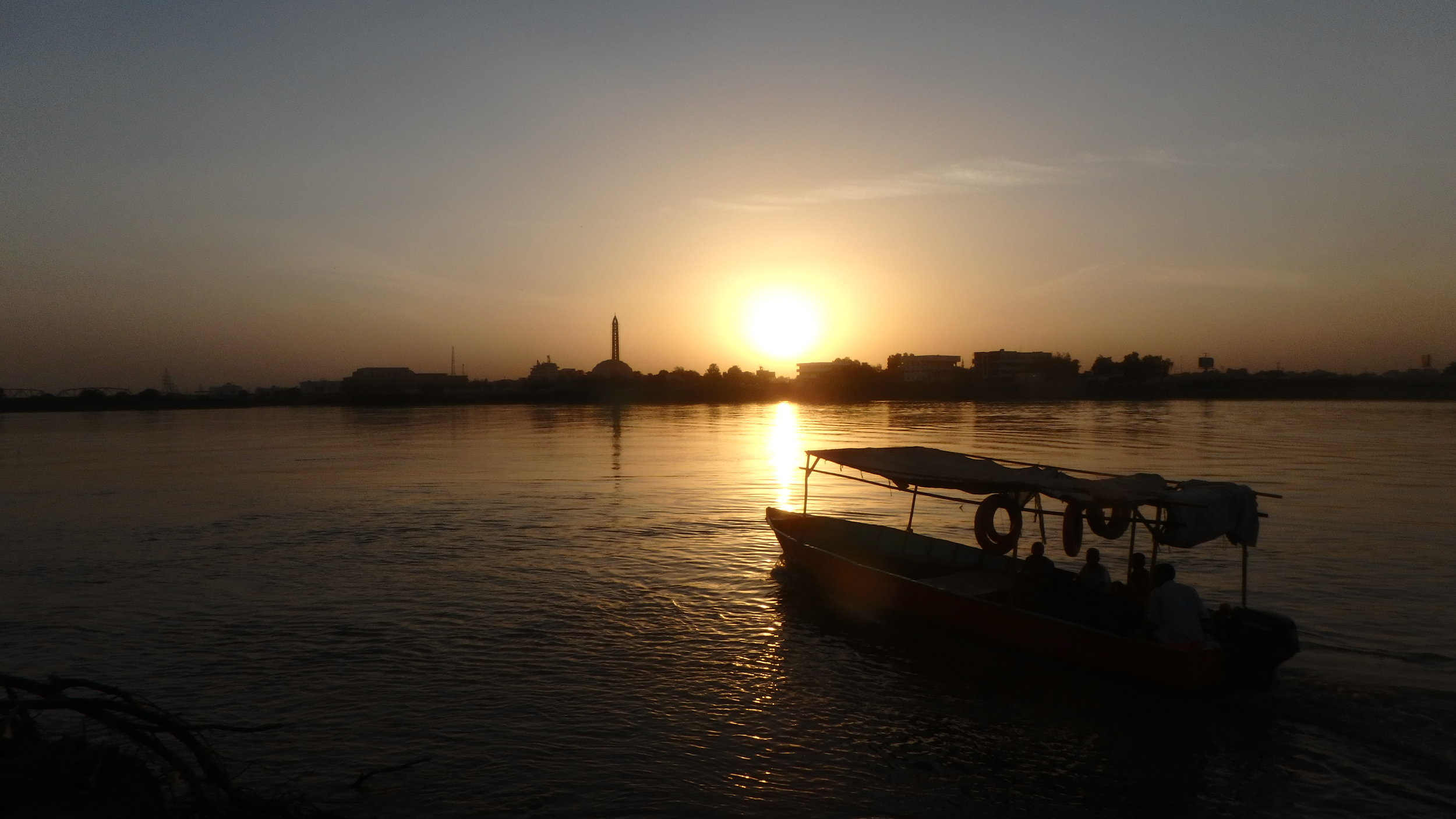 Crossing the Nile, Khartoum.