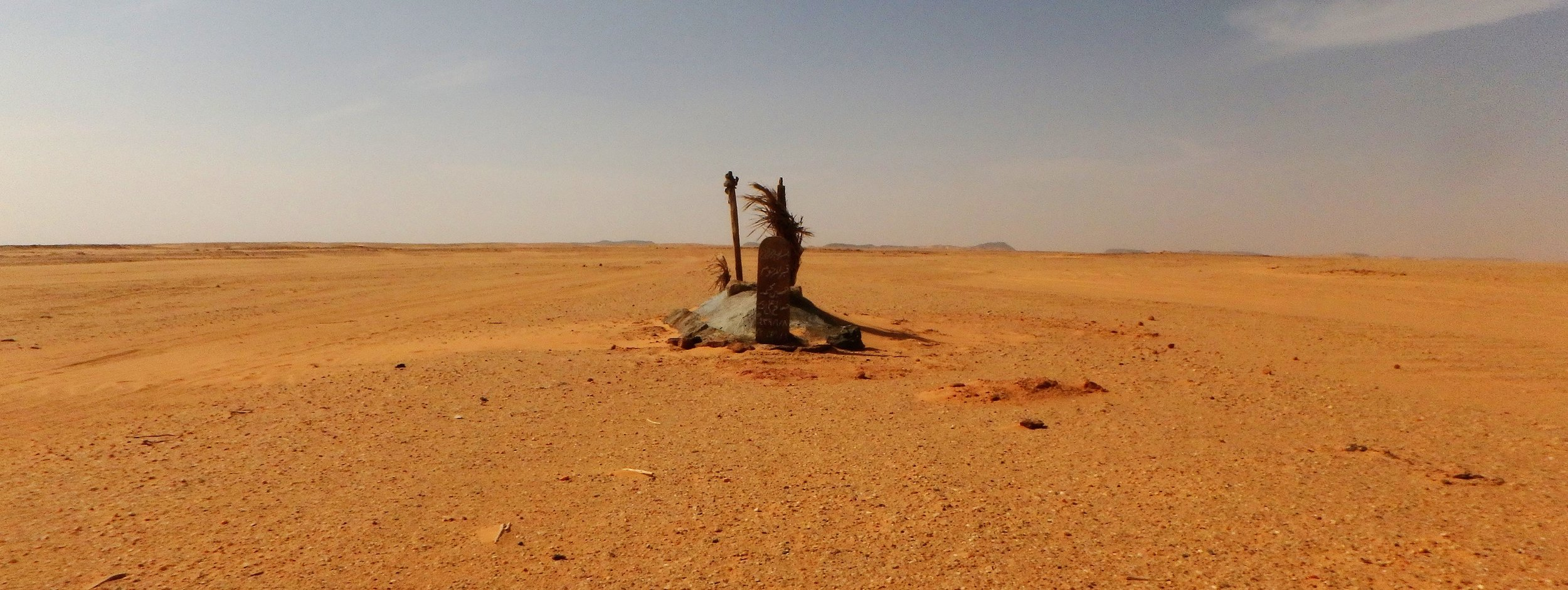A grave in the middle of the desert, near(ish) to Karima.