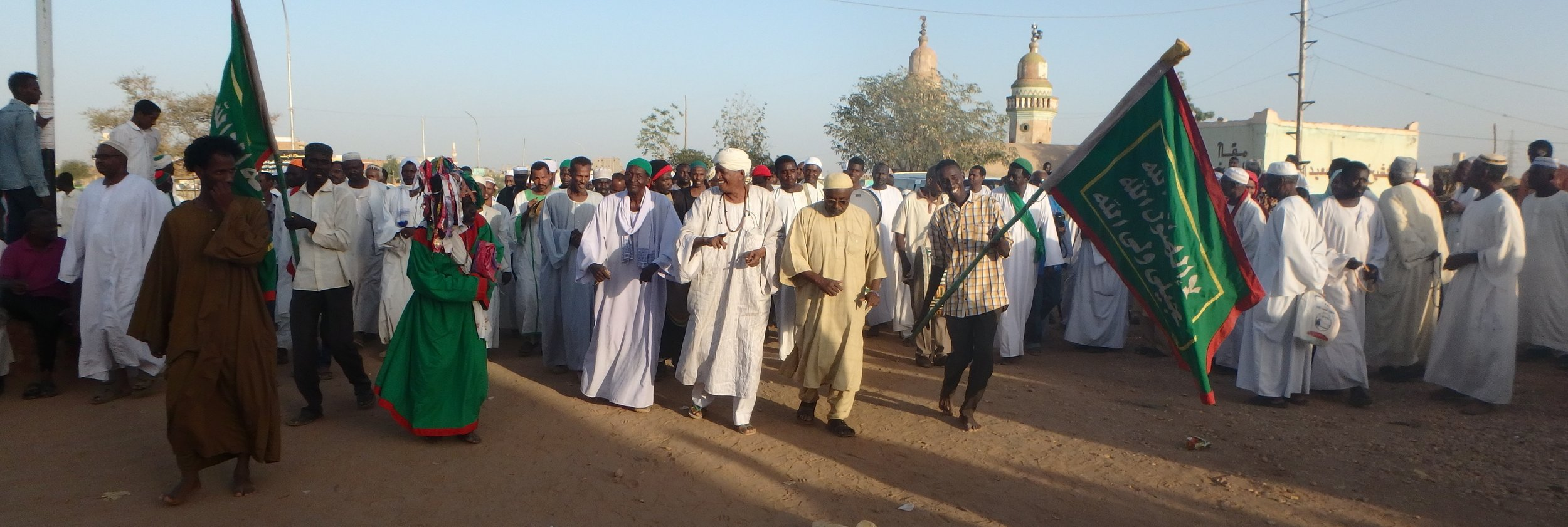 Back in Omdurman, Khartoum, we catch a soufi  dhikr  (ceremony of chanting, dancing, and trance to focus on one's connection to God)   in the Hamad el-Nil cemetery.