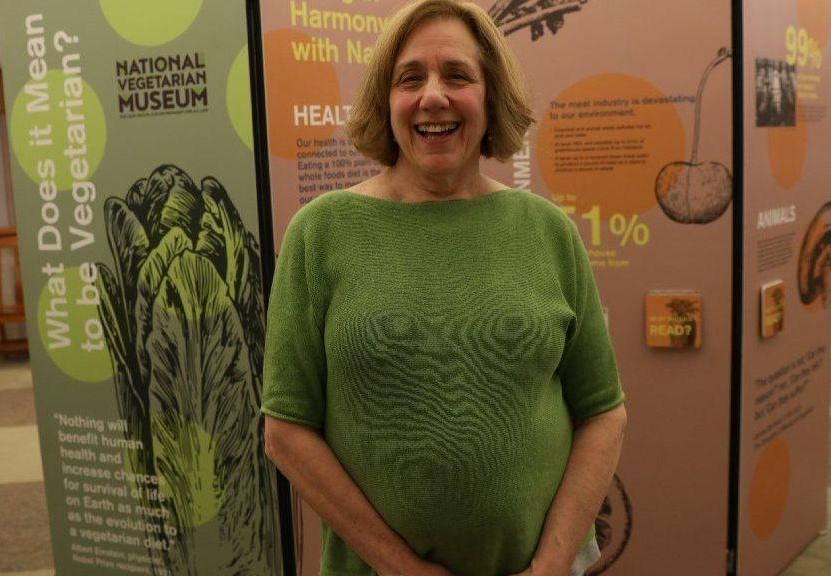 """""""I think the more people know about our history the stronger our great vegan movement will become."""" - — Kay Stepkin, Founder of the National Vegetarian Museum"""