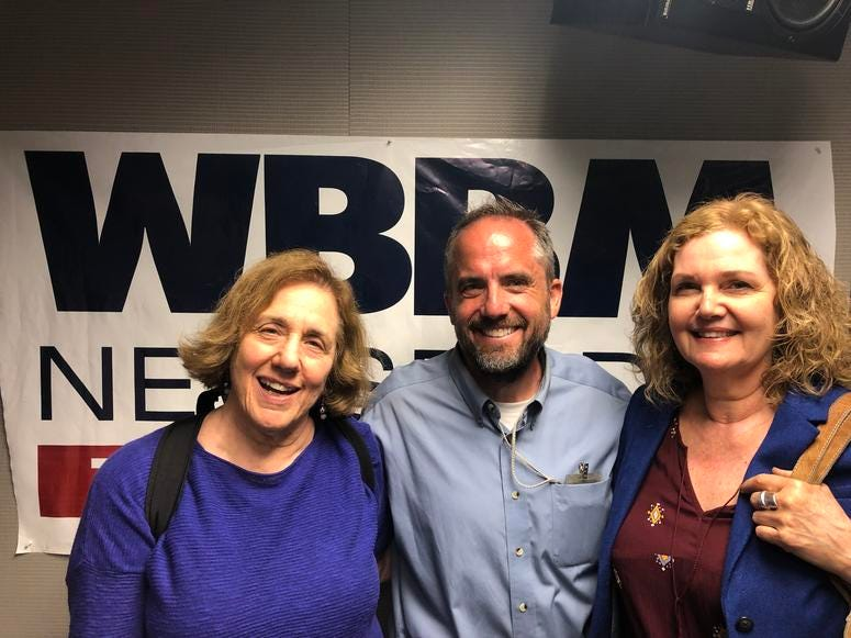 Kay Stepkin, reporter Terry Keshner and Robbin O'Harrow. (WBBM)