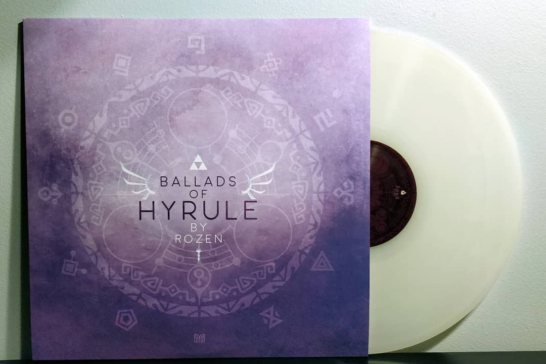Ballads of Hyrule by Rozen pressed on Milky White vinyl by Materia Collective