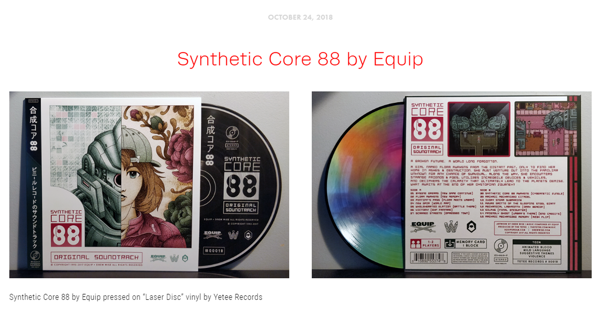 "Blog Post #6 - ""Synthetic Core 88 is the catalyst of your wildest dreams!"""