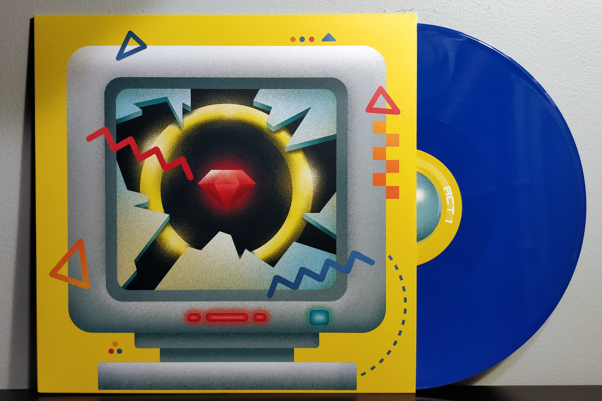 "Zones (Act 1 & 2) by Saskrotch pressed on ""Royal Blue"" vinyl by Yetee Records"