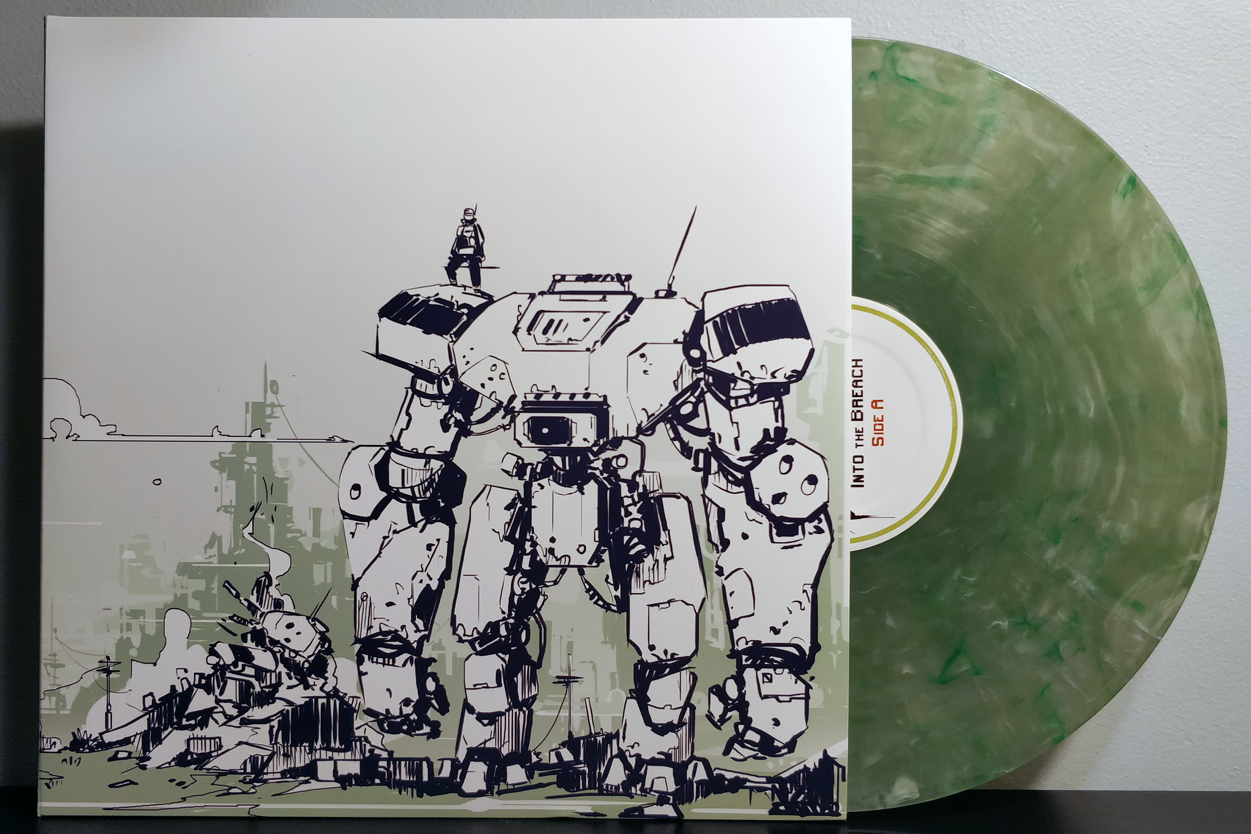 Into the Breach by Ben Prunty pressed on translucent, smoky green vinyl by Fangamer