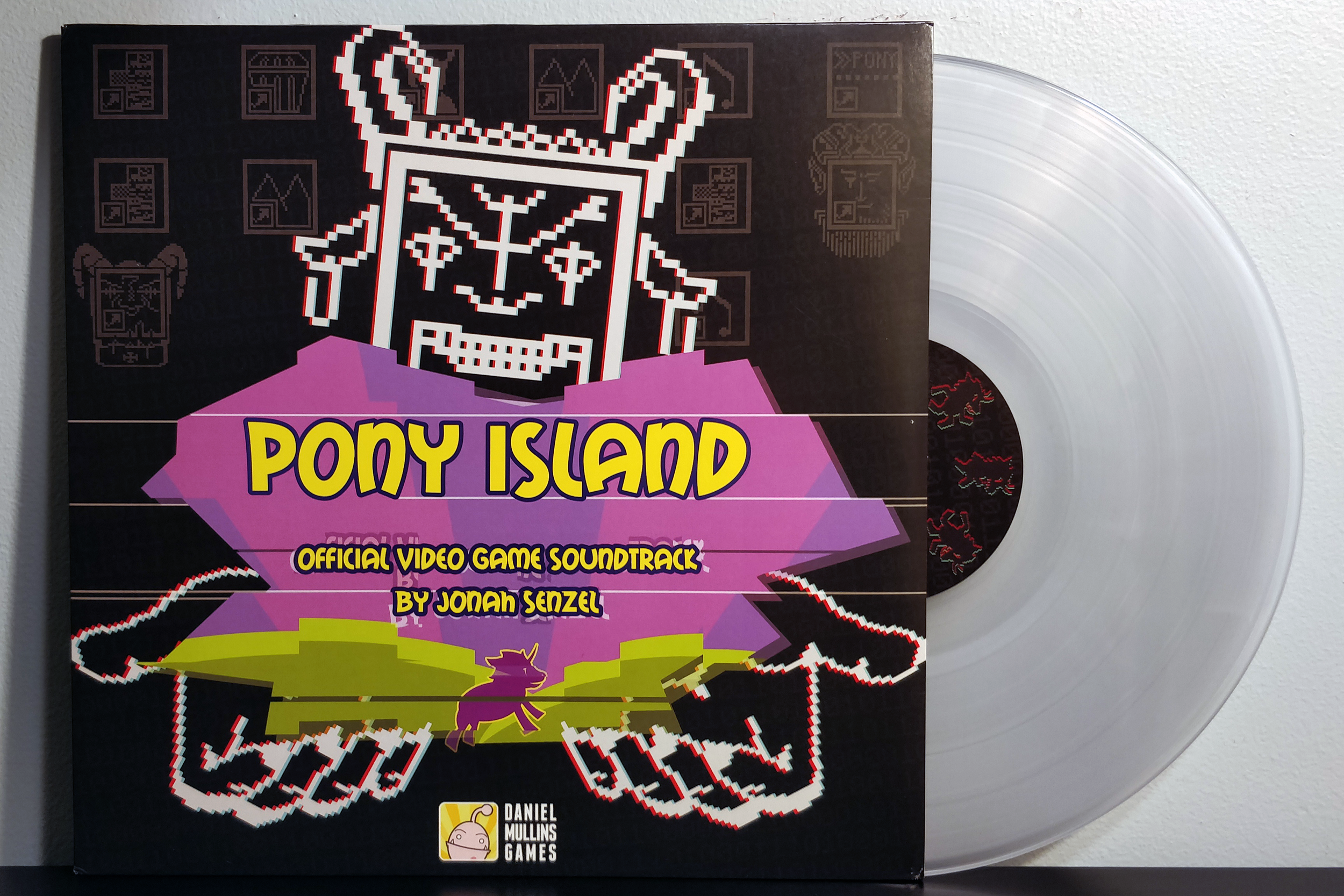 Pony Island by Jonah Senzel pressed on clear vinyl by Black Screen Records