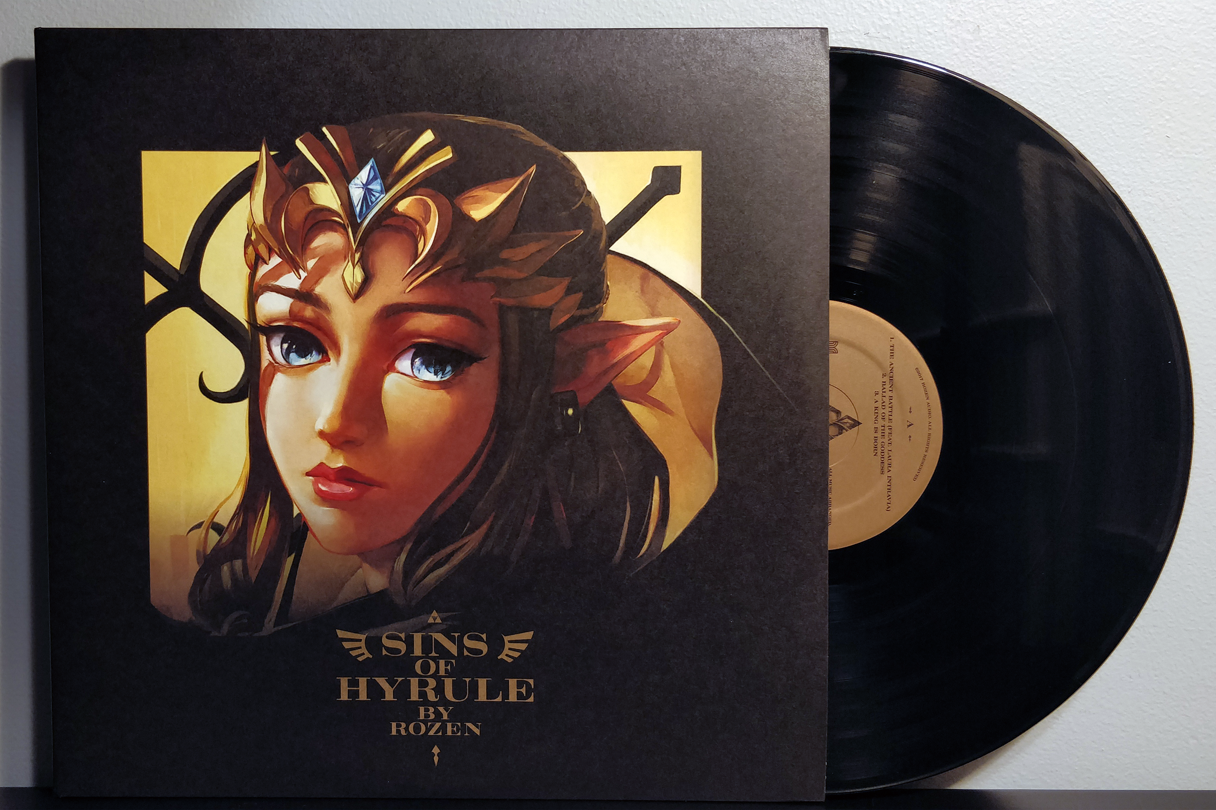 Sins of Hyrule by Rozen pressed on black vinyl by Materia Collective.