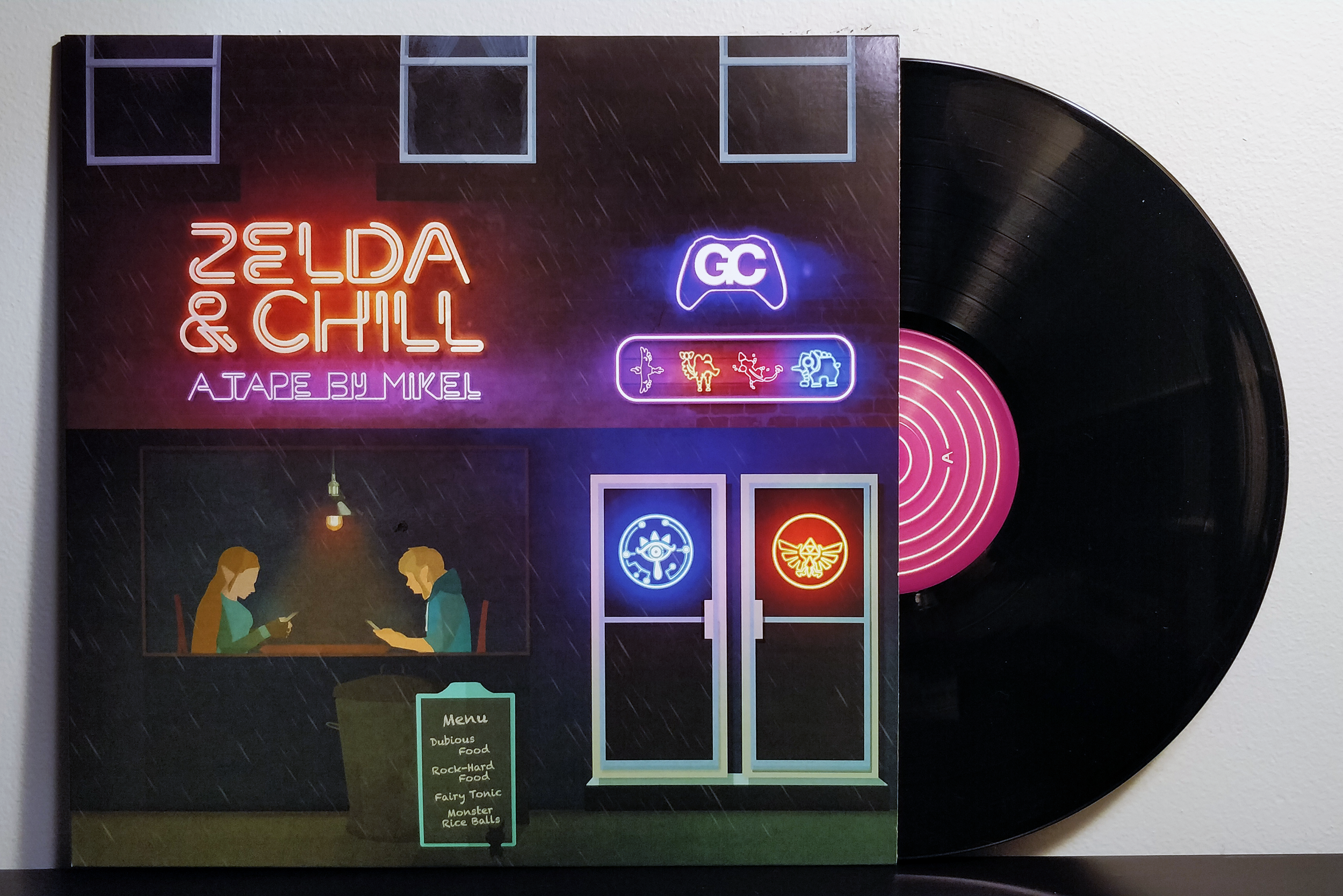 Zelda & Chill by Mikel & GameChops pressed on black vinyl by Materia Collective
