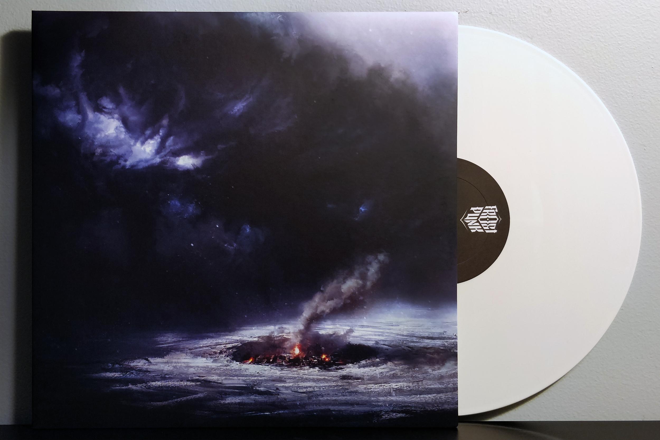 Frostpunk by Piotr Musiał pressed on white vinyl by gamemusic records