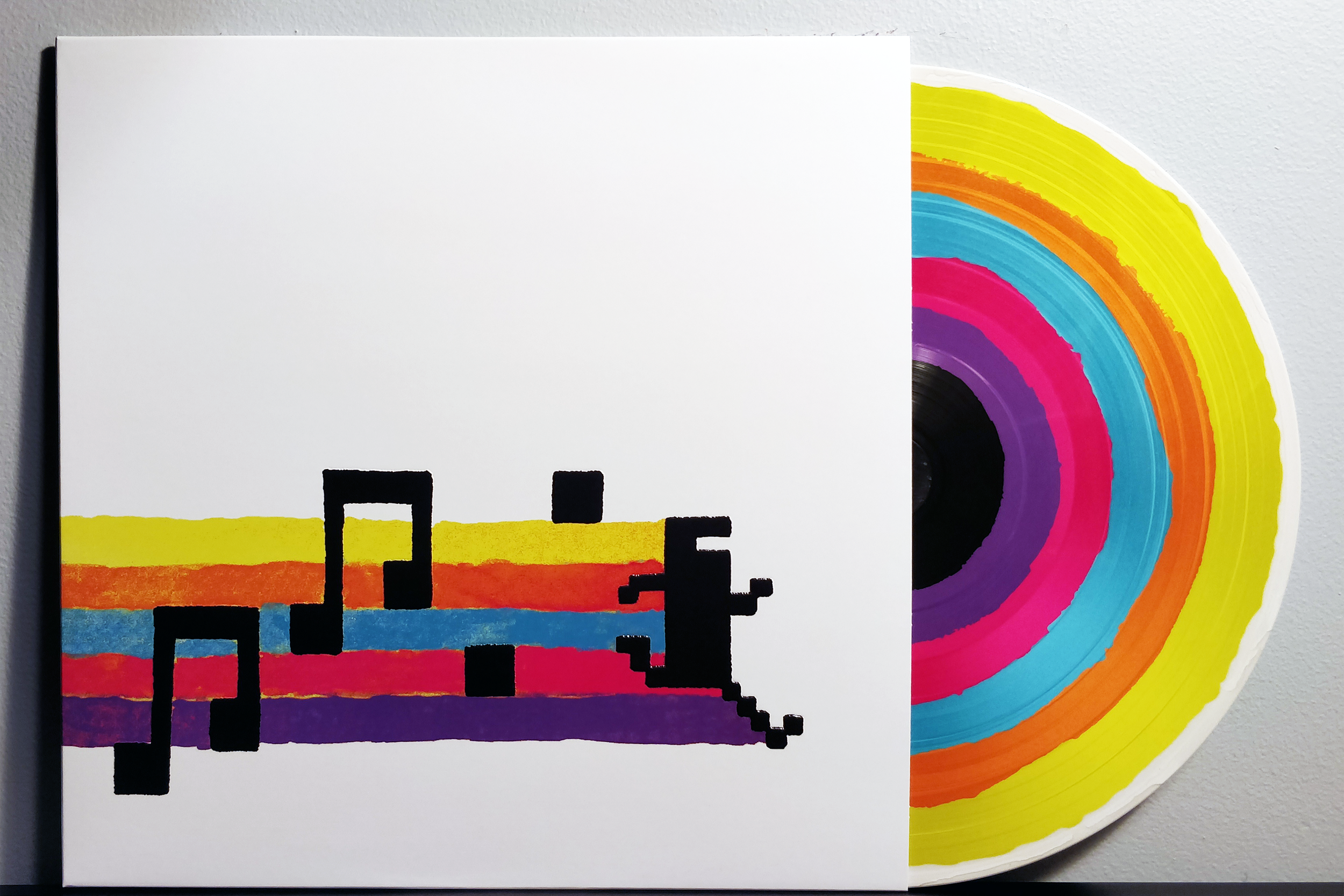 BIT.TRIP's Greatest Chips by Bit Shifter, Bubblyfish, Nullsleep, Anamanaguchi, and minusbaby pressed on picture disc vinyl by iam8bit.