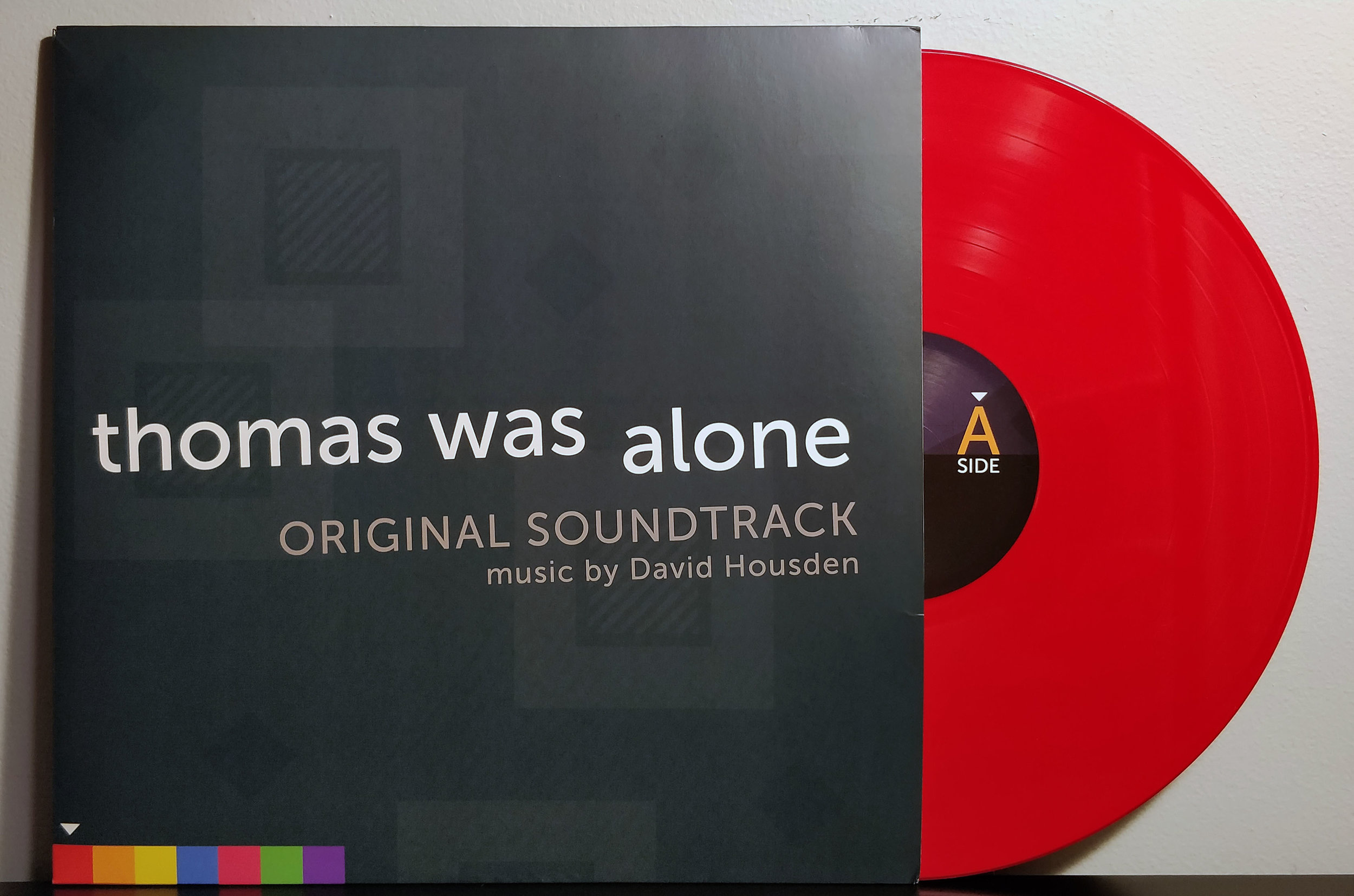 Thomas Was Alone by David Housden pressed on red vinyl by Black Screen Records