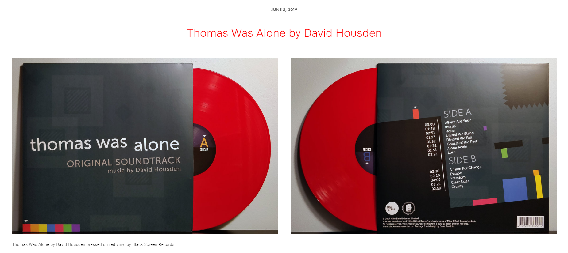 "Review #37 - ""David's work here on Thomas Was Alone is not only a crowning achievement in his career, but a capstone in what will be revered as one of the greatest games to ever come out of this generation of indie titles."""