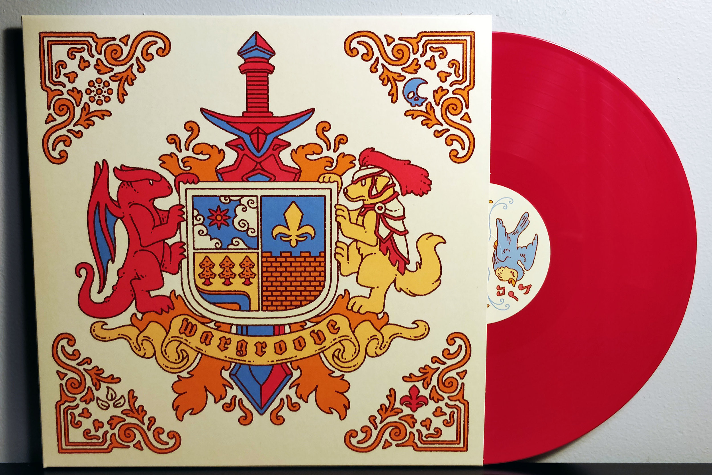 Wargroove by Phonetic Hero pressed on red vinyl by Yetee Records