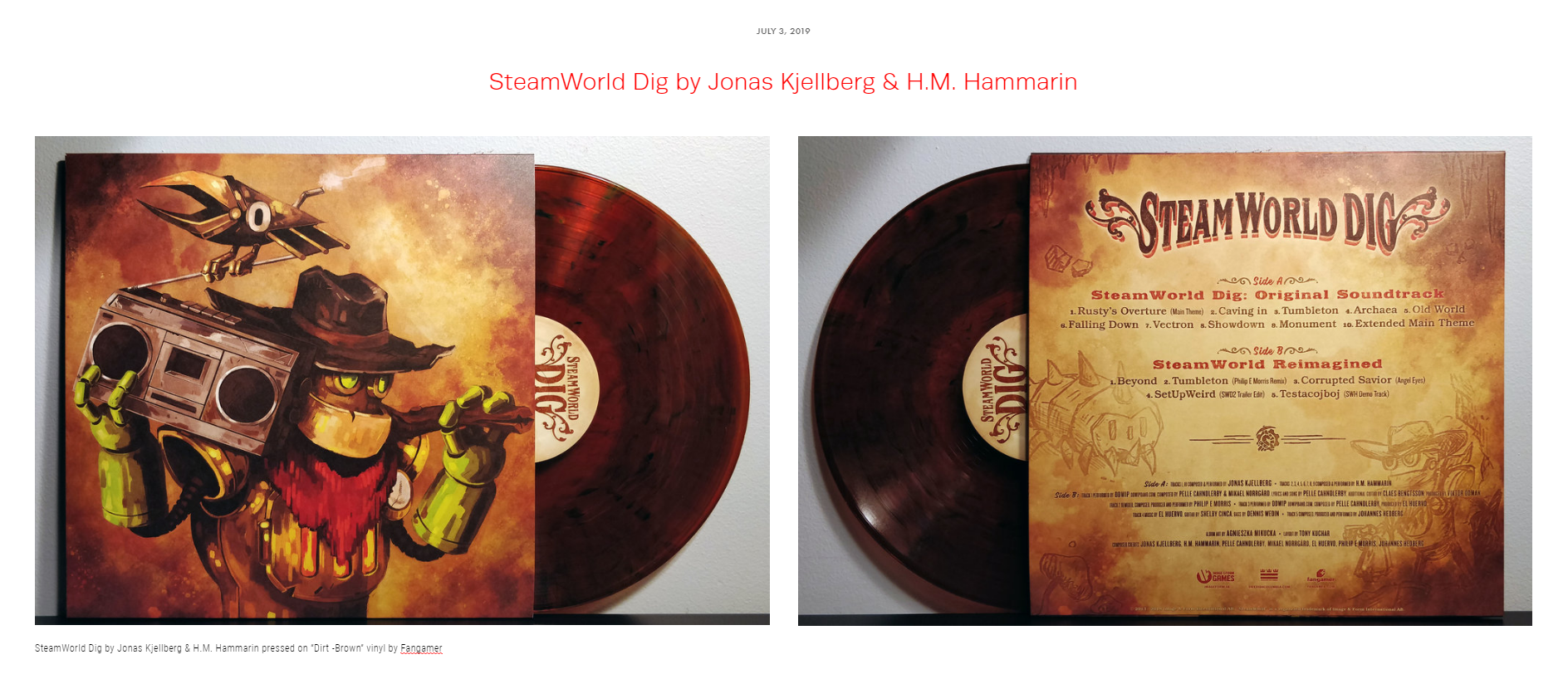 "Review #41 - ""With a deeply atmospheric and electronic take on classical western sounds, it's no doubt in my mind that Jonas Kjellberg and H.M. Hammarin completely solidified the SteamWorld universe with their unique sound."""