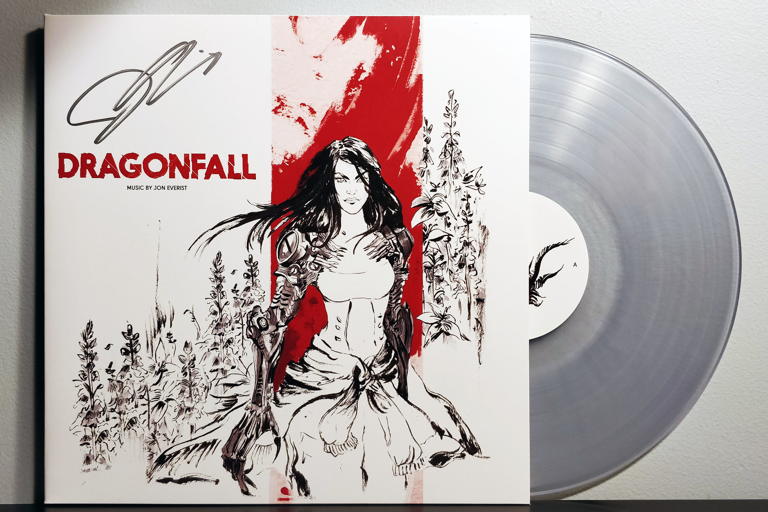Shadowrun: Dragonfall by Jon Everist pressed on clear vinyl by Black Screen Records
