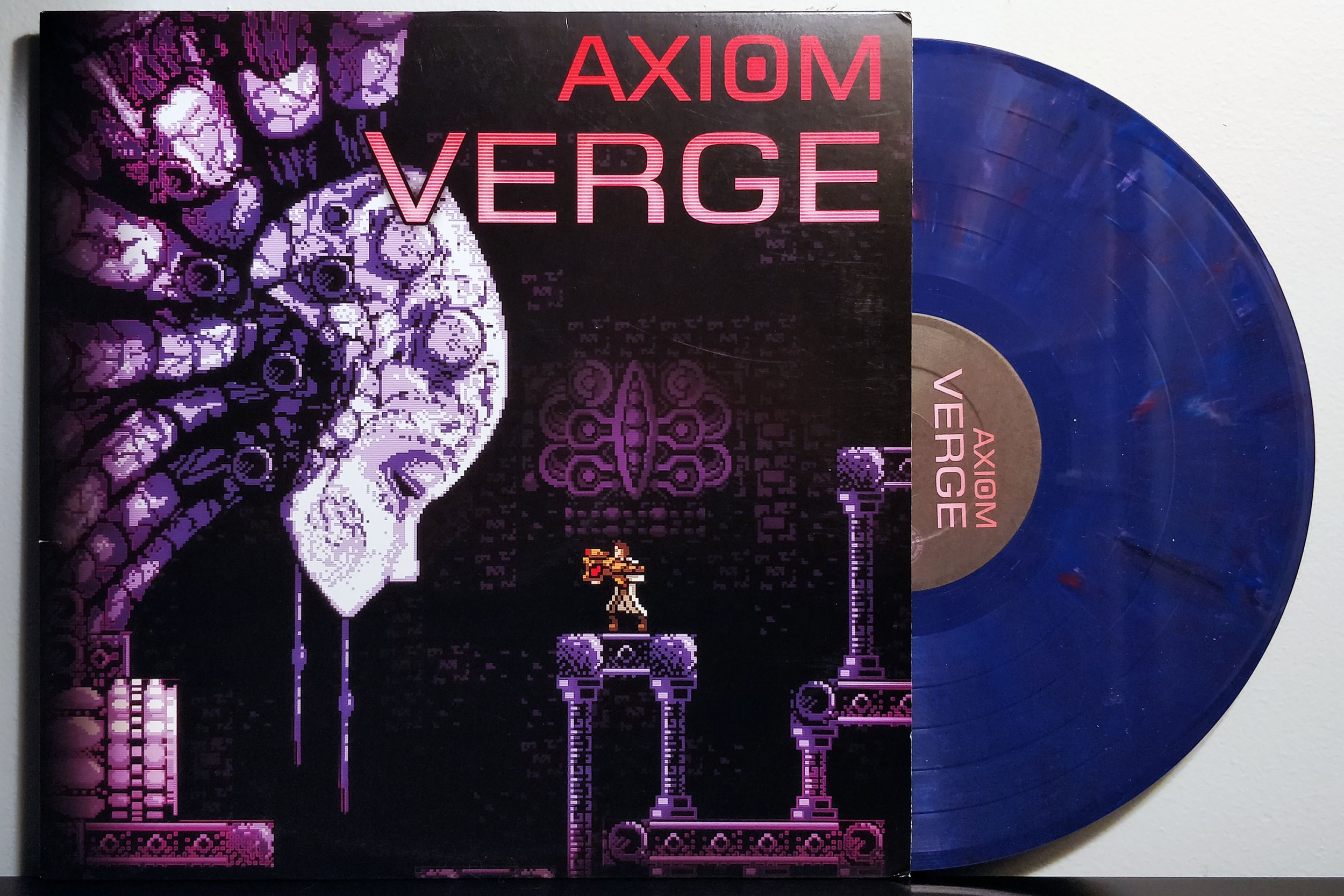Axiom Verge by Thomas Happ pressed on purple marble vinyl by Ship to Shore PhonoCo.