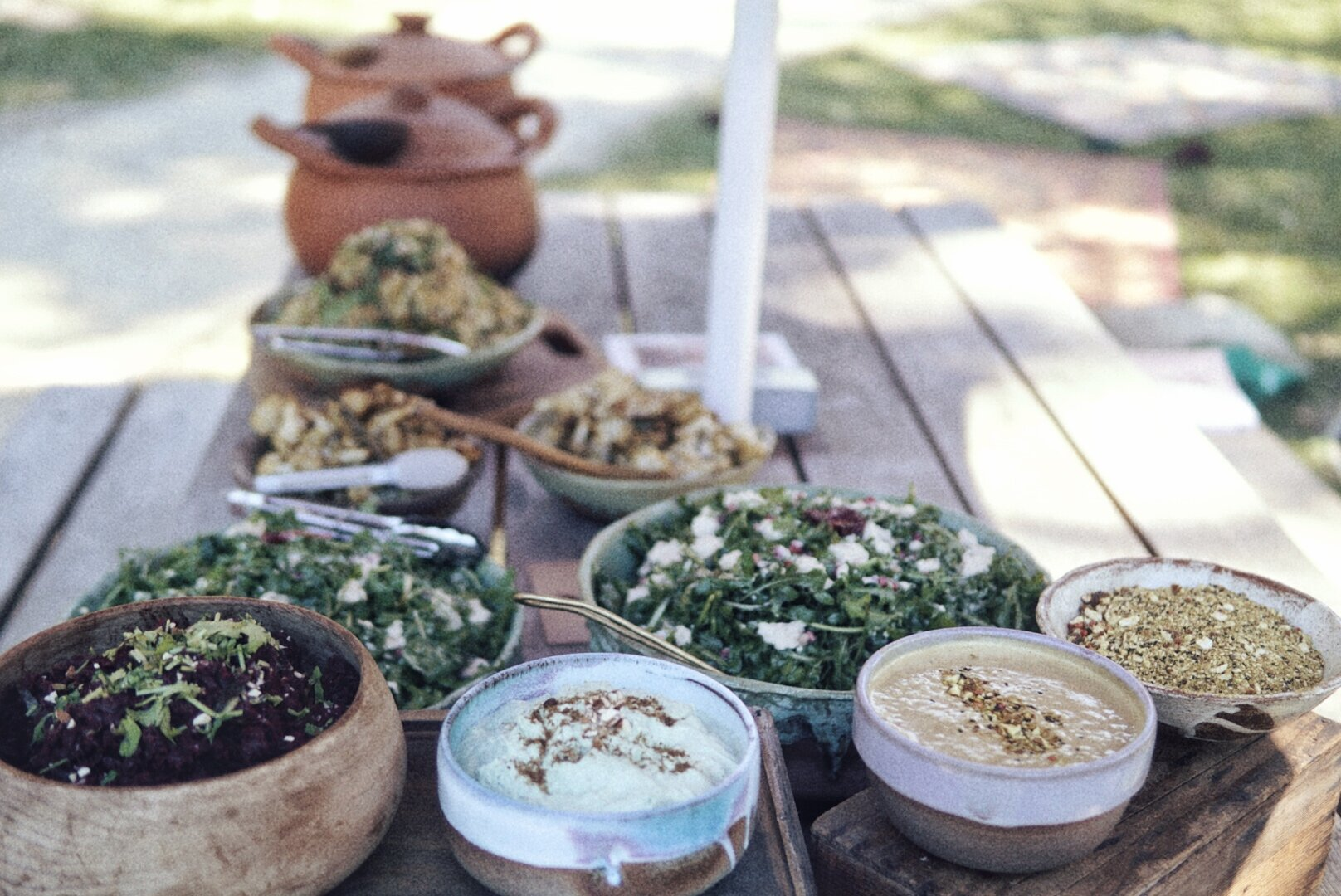 picnic style plant-based lunch @luckymama_aus