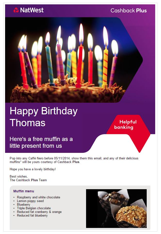 Nat West Bank - Email Campaign