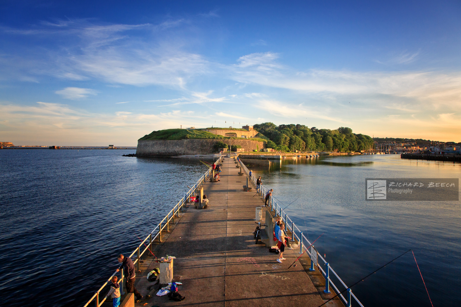 Nothe Fort and Gardens from the Stone Pier