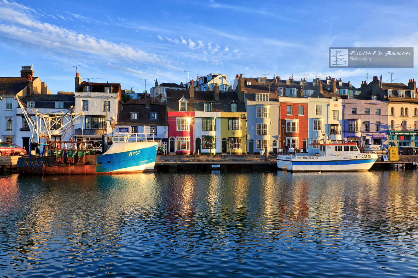 Weymouth Harbour by Evening Light