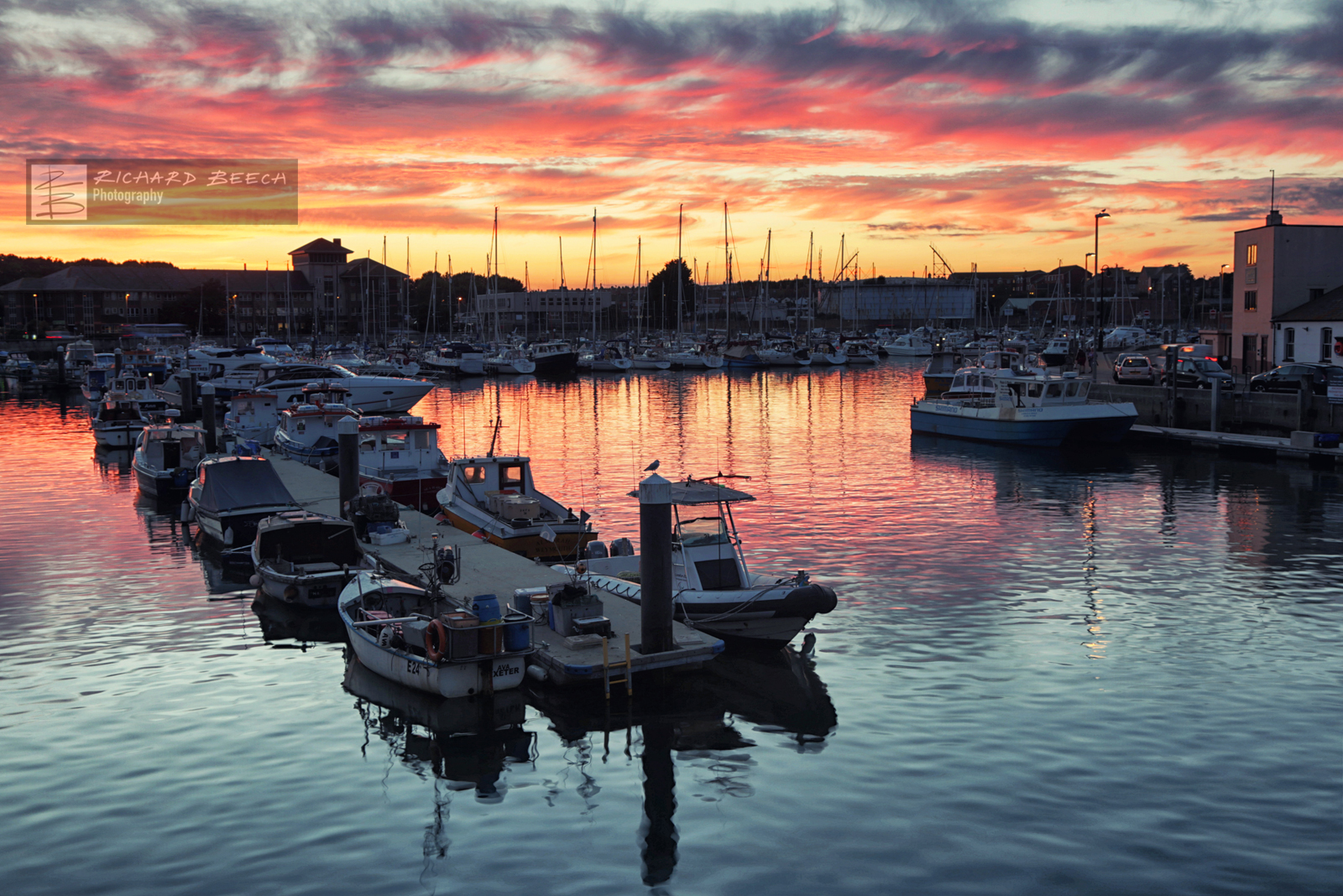 Weymouth Inner Harbour Sunset