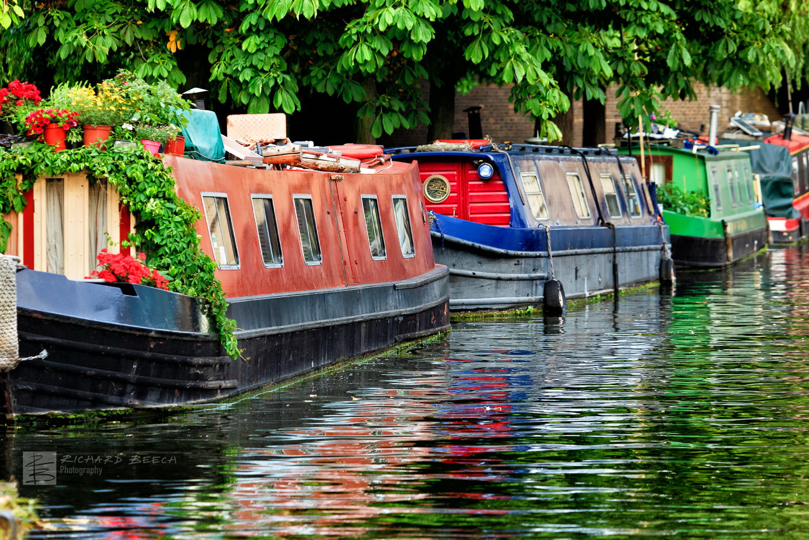 Canal Boats Reflections