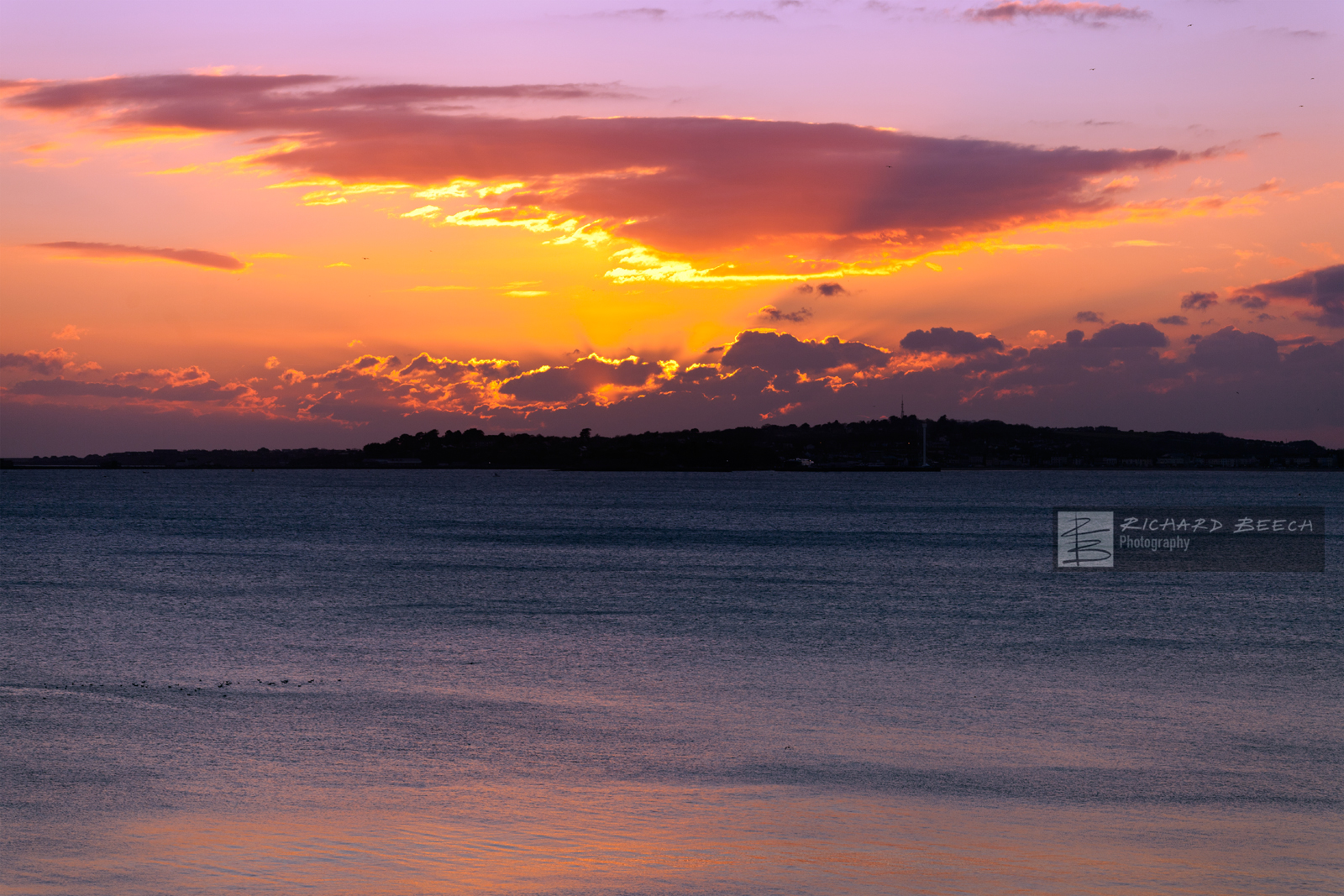 Sunset over Weymouth Bay