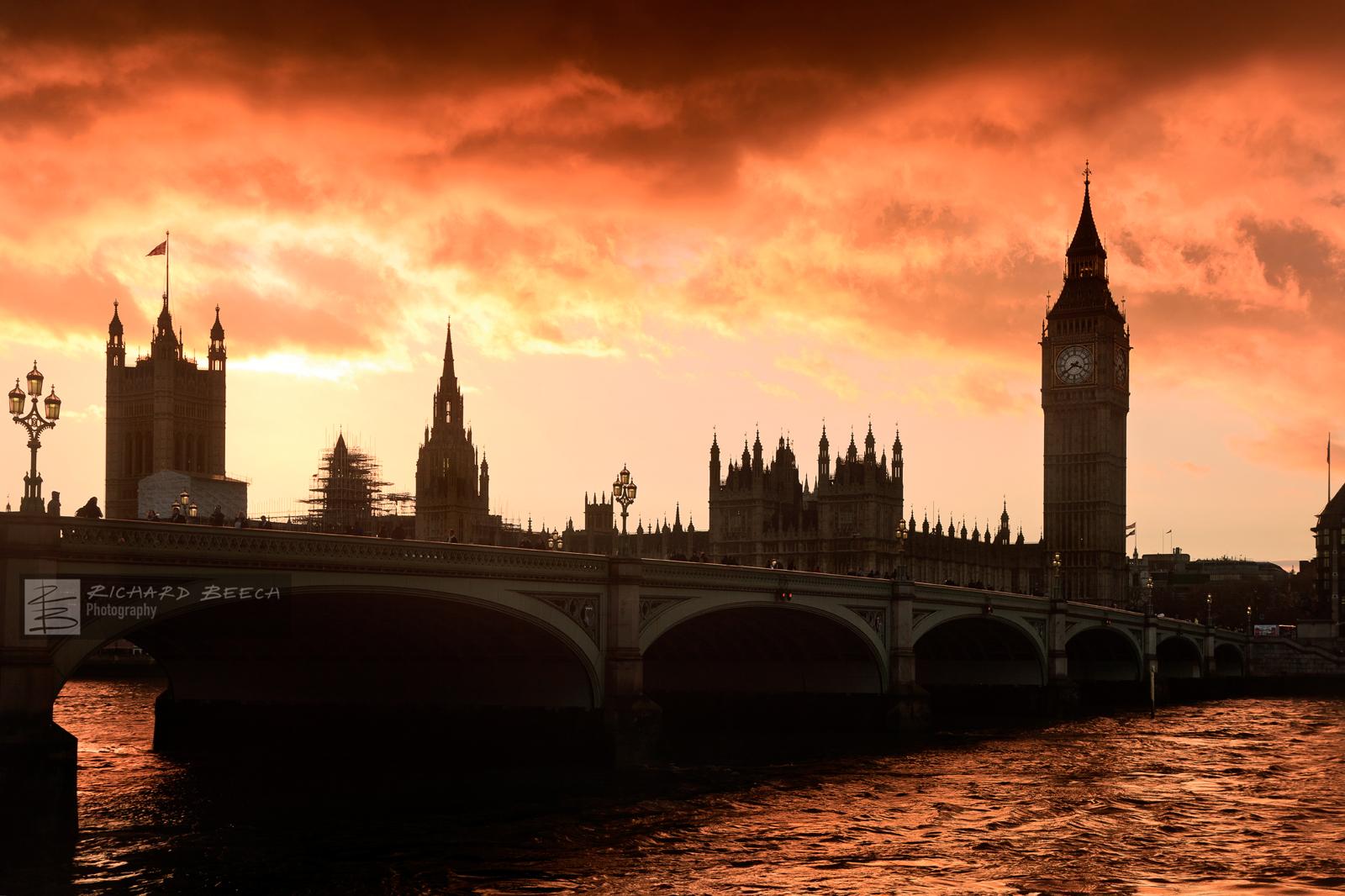 Fiery Sunset over Parliament