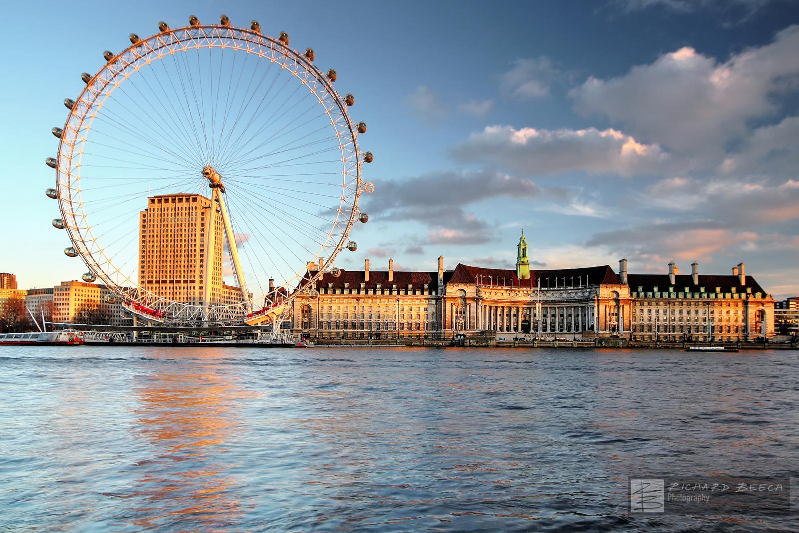 London Eye by Evening Light
