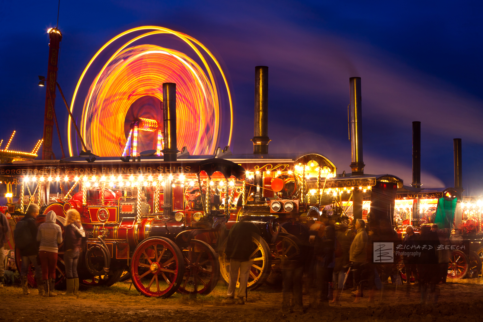Great Dorset Steam Fair at Night