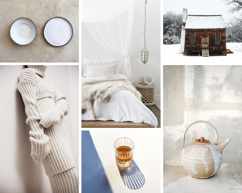 left to right: Fefo Studio// The Design Villa// Cabin Porn via Whiskey in the Woods// Abstract Teapot by Elena Ray// Gentl & Hyers Photography// MM6 Maison Margiela
