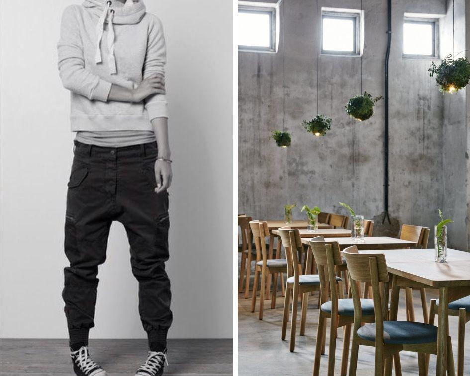 Left: Pinterest/Right: Wild Herb Cafe in Helsinki by studio Joanna Laajisto